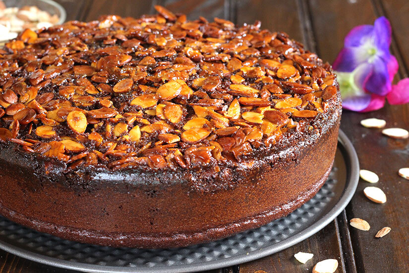 upside down cake recipes chocolate almond upside down cake