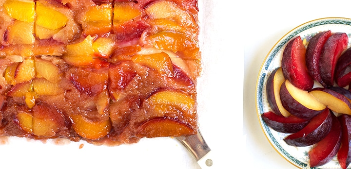 upside down plum cake dessert recipe