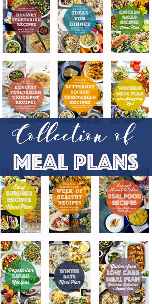 Collection of Meal Plans Meals to make