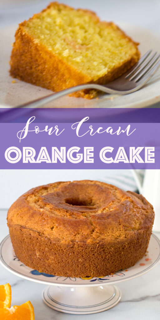 Sour Cream Orange Cake