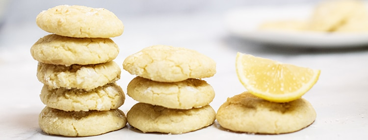 lemon cookies out of the oven