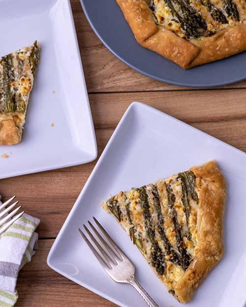 Asparagus Appetizer Recipes | Asparagus and Goat Cheese Galette
