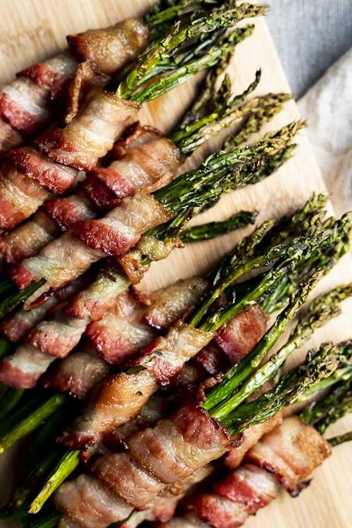 Asparagus Appetizer Recipes | Bacon Wrapped Asparagus
