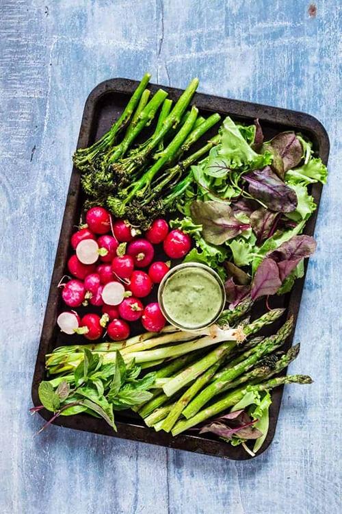 Asparagus Appetizer Recipes Spring Platter 1