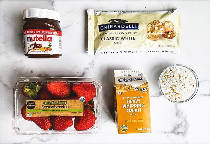 Nutella Covered Strawberries Ingredients