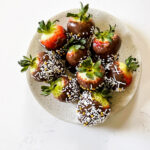 nutella covered strawberries
