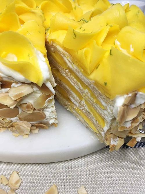 Mango Crepe Cake - Easy Mango Desserts