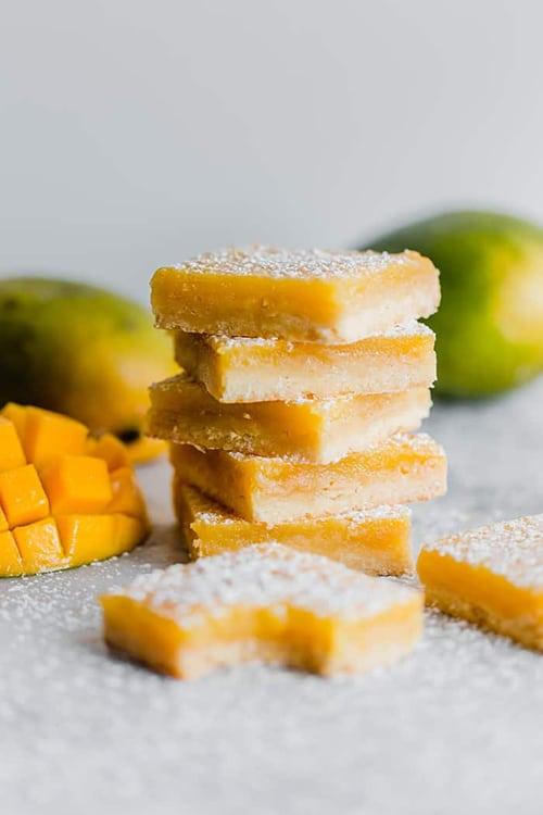 Mango Lemon Bars - Easy Mango Desserts