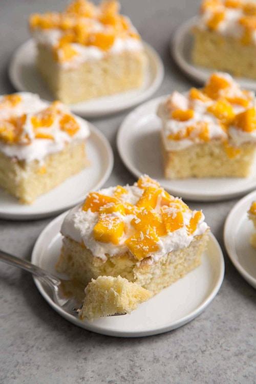 Mango Sheet Cake - Easy Mango Desserts