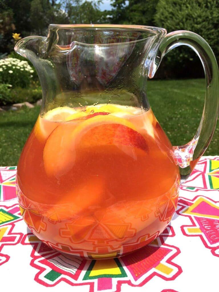 instant pot peach leomade | unique lemonade recipes