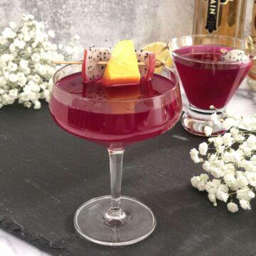 Dragonfruit Elderberry Cocktail