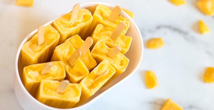 Mango popsicle recipe Rainbow Deliciouss