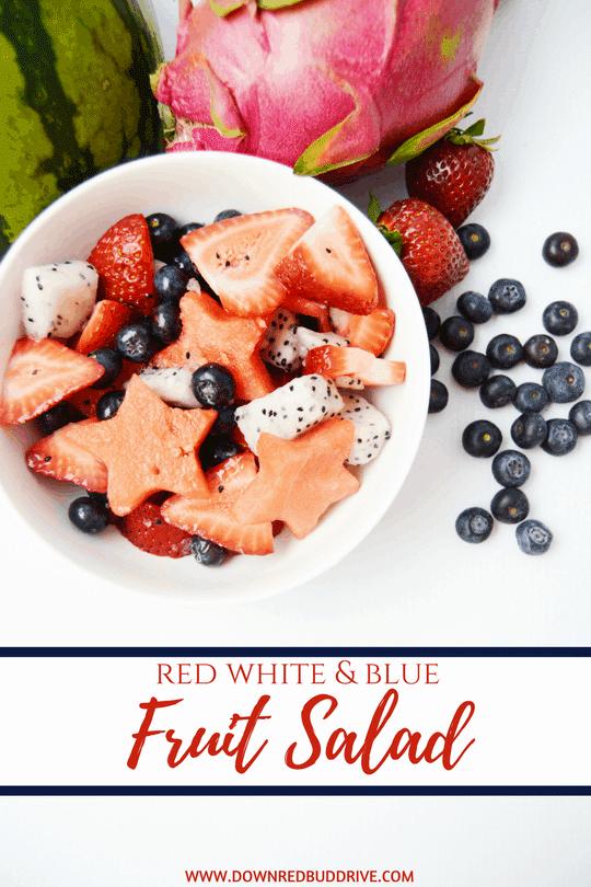 Patriotic Dragon Fruit Salad