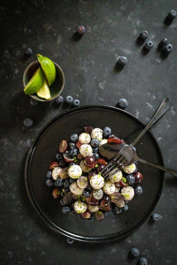 Plum Wine Infused Dragon Fruit Salad
