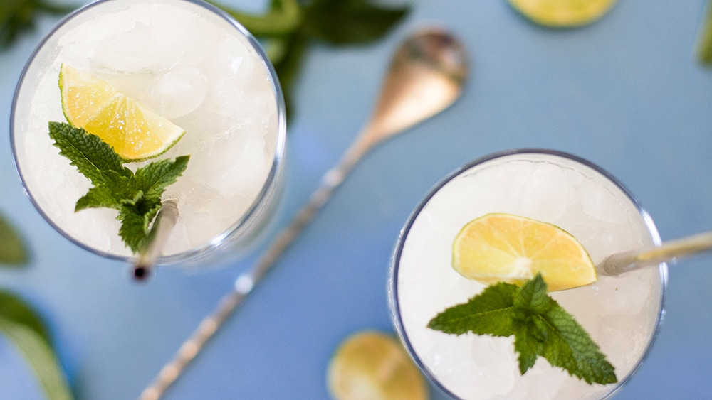 set of two mojito mocktail