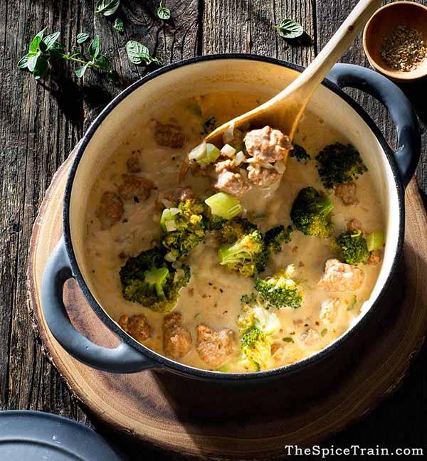 Broccoli-Sausage-Soup