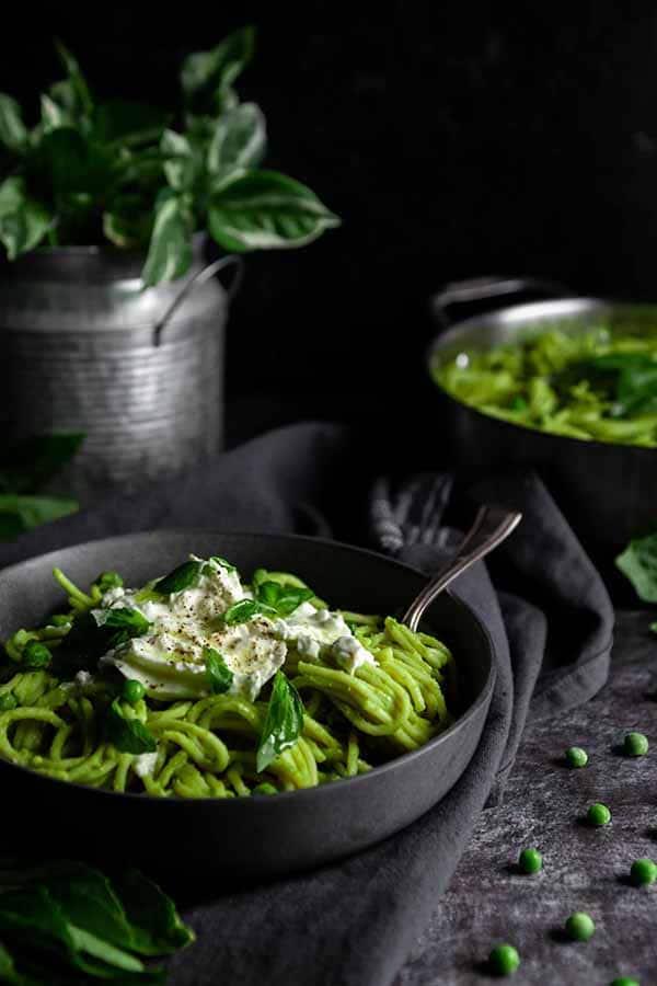 Green Pea Pasta with Burrata | Burrata Recipes