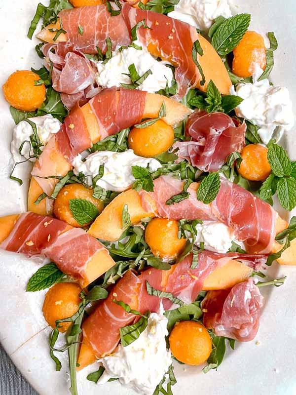 Melon Prosciutto Salad with Burrata | Burrata Recipes