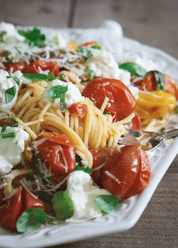 Pasta Checca with Burrata Burrata Pasta Recipes