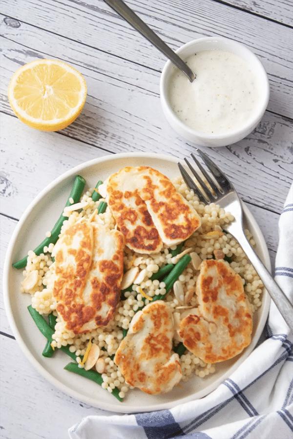 Couscous Halloumi Salad