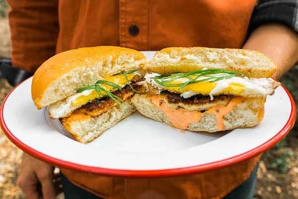 Grilled Halloumi Breakfast Sandwich | Halloumi Recipes