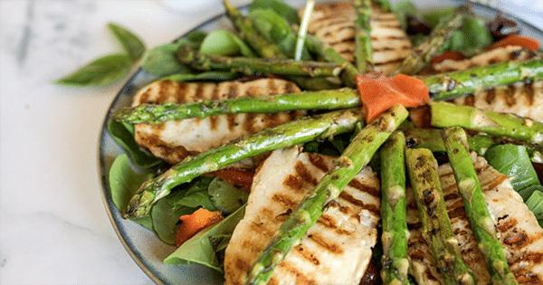 Halloumi Asparagus Salad | Halloumi Recipes