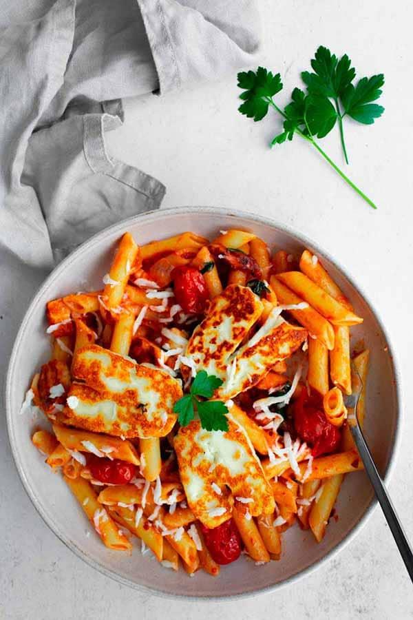 Halloumi Pasta | Halloumi Recipes