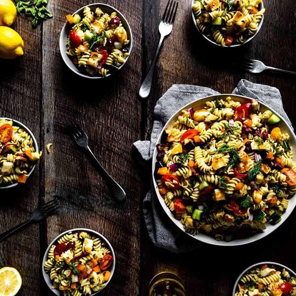 Halloumi Pasta Salad | Halloumi Recipes