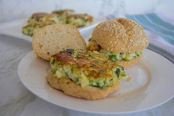 Halloumi Zucchini Burgers | Halloumi Recipes
