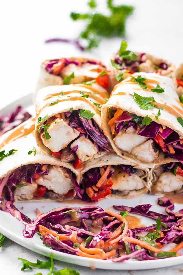 Satay Halloumi Wraps | Halloumi Recipes