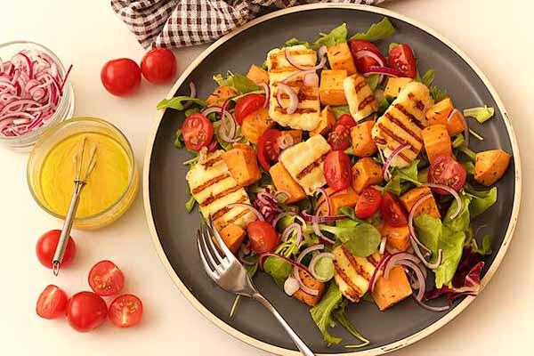 Sweet Potato Halloumi Salad | Halloumi REcipes