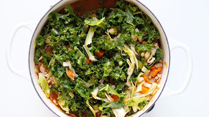 Greens in Tuscan Kale Soup